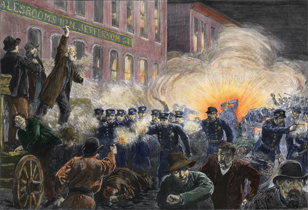 The Haymarket Square Riot on May 04, 1886