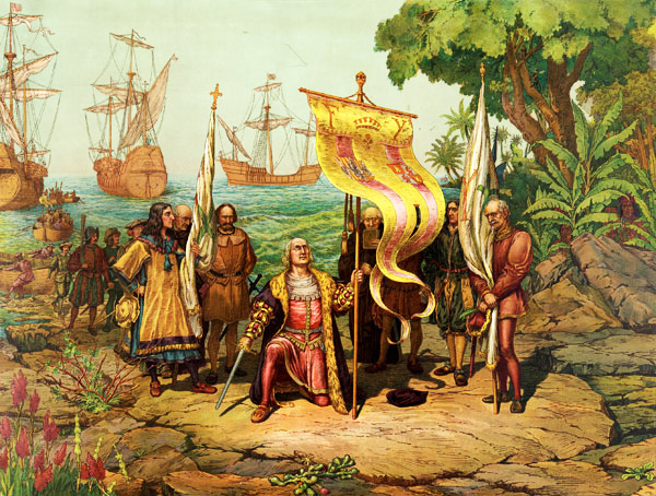 Columbus reaches the New World on October 12, 1492