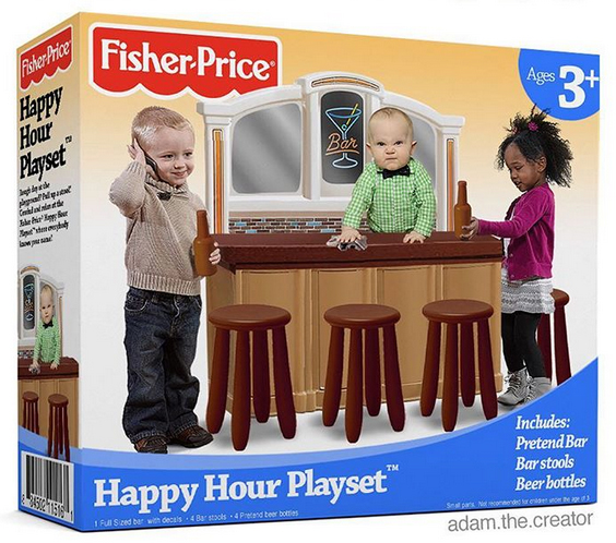 "No, Fisher-Price Isn't Selling A ""Happy Hour Playset"""