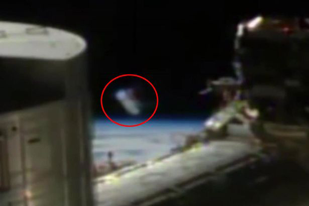 Mysterious 'Alien' cylinder on NASA live feed for International Space Station spotted by space experts