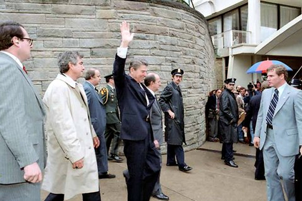 President Reagan shot on March 30, 1981