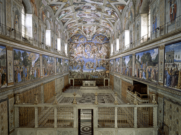 Sistine Chapel ceiling opens to public on November 01, 1512