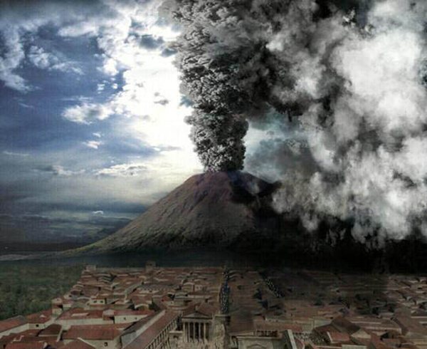 Vesuvius erupts on August 24, 79