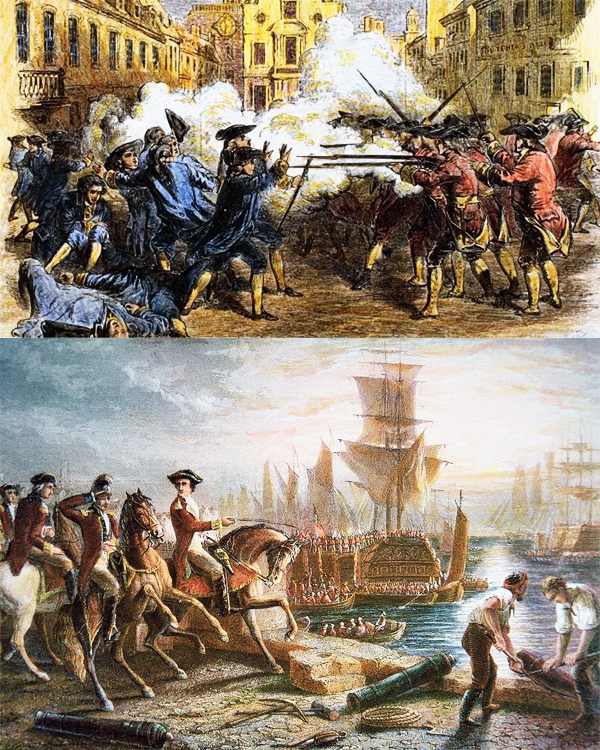 American Revolution: British forces evacuate Boston, ending the Siege of Boston on March 17, 1776