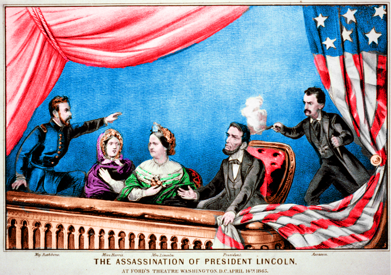 Lincoln is shot on April 14, 1865