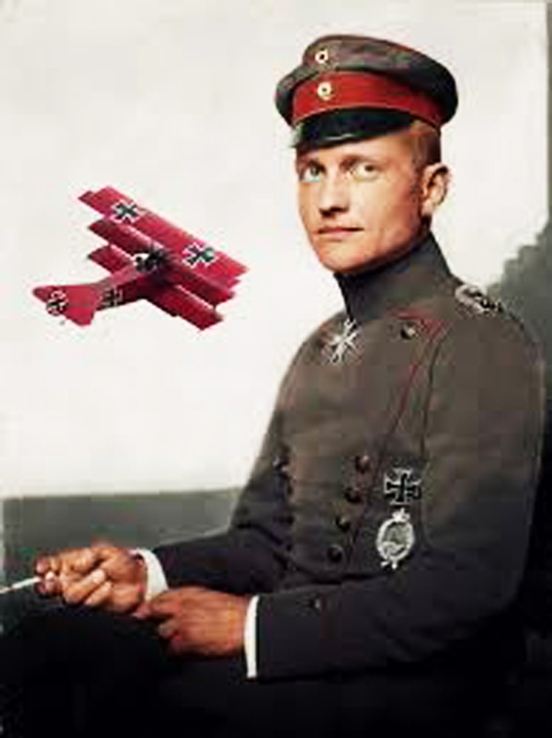 Red Baron killed in action on April 21, 1918
