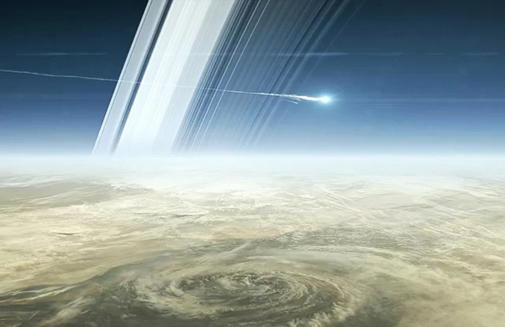 End of mission for Cassini–Huygens on September 15, 2017