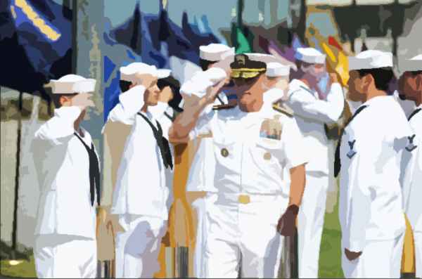 110707-N-GT324-029 CORONADO, Calif. (July 7, 2011) Vice Adm. Robert S. Harward, commander of Combined Joint Task Force (CTF) 435, walks through sideboys during the SEAL Team 5 change of command ceremony. Harward was the guest speaker at the event. SEAL Team 5 is a special operations component responsible for the training and deployment of personnel in support of U.S. and allied forces missions throughout the Asian and Pacific theaters of responsibility. (U.S. Navy photo by Mass Communication Specialist 2nd Class Marc Rockwell-Pate/Released)