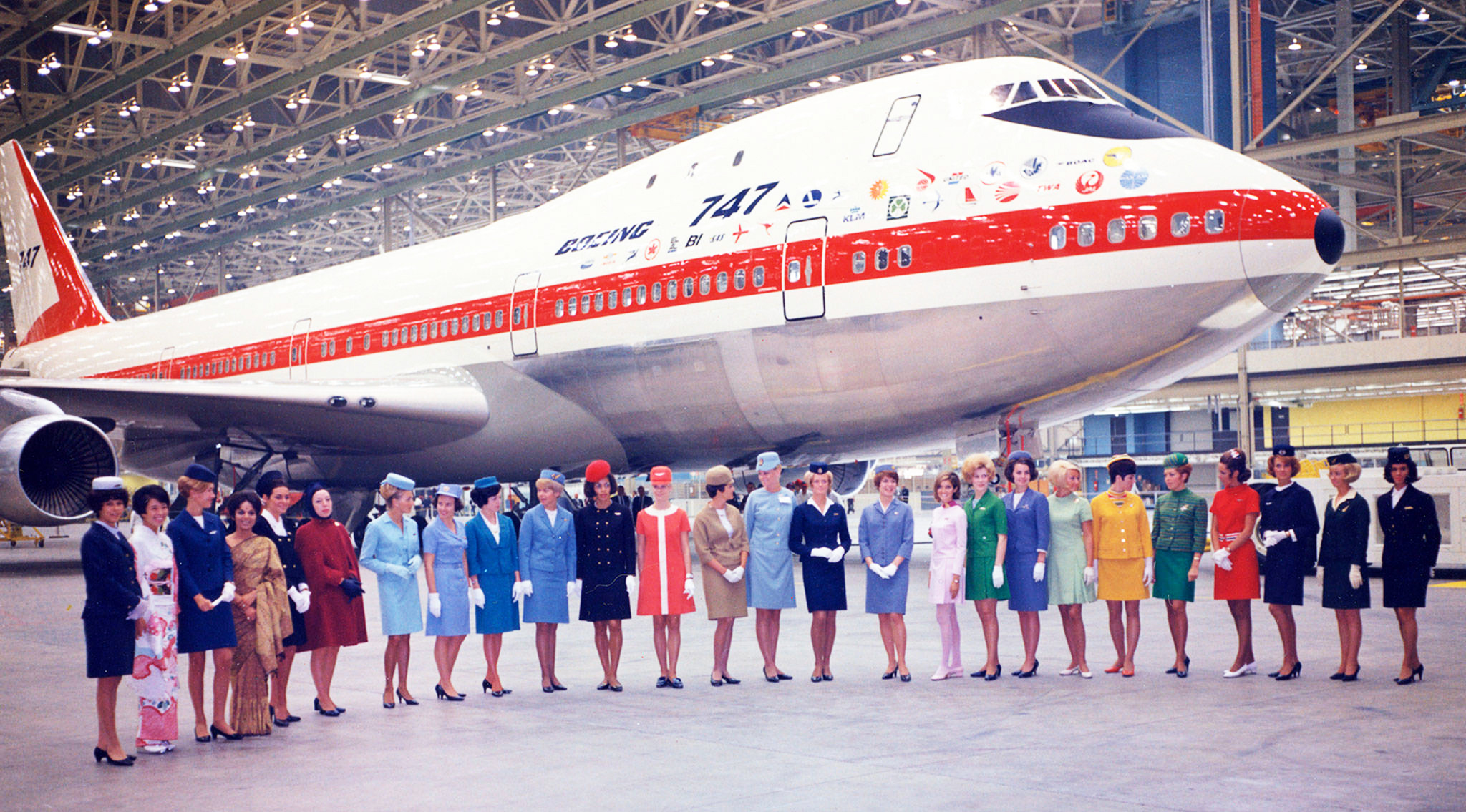 Boeing rolls out first 747 Jumbo Jet on September 30, 1968