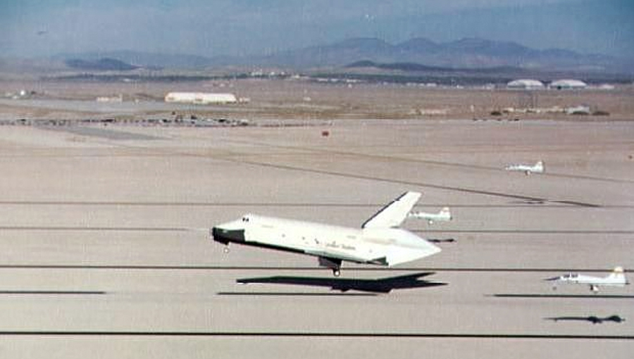 First free flight of the Space Shuttle Enterprise on August 12, 1977