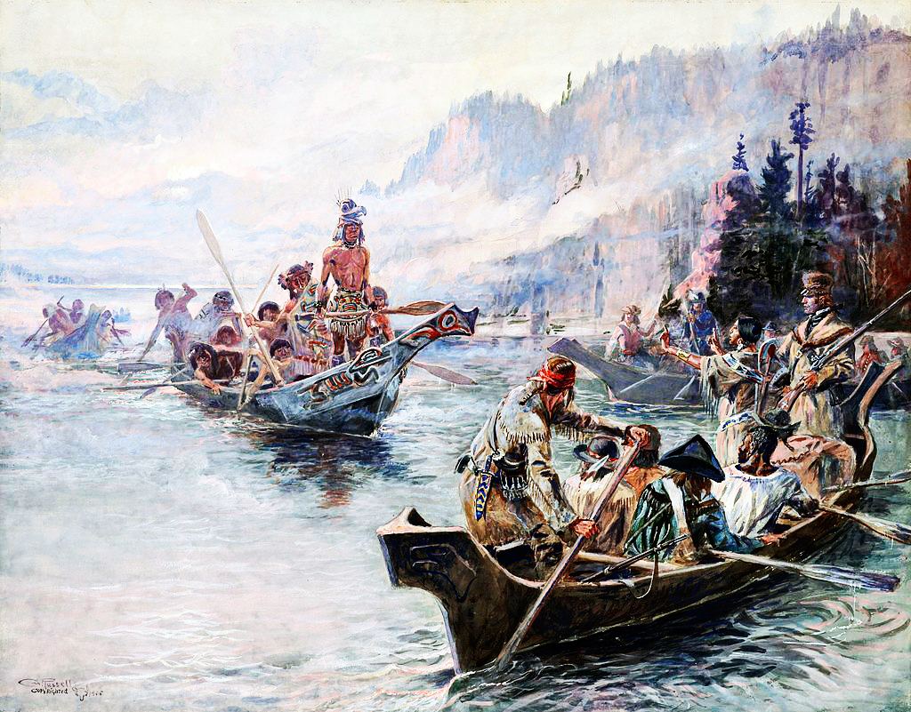 Lewis and Clark return to St. Louis after exploring the Pacific Northwest on September 23, 1806