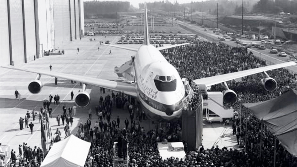 "The Boeing 747, the world's first ""jumbo jet"", Makes its maiden voyage from John F. Kennedy International Airport to London Heathrow Airport on January 22, 1970"