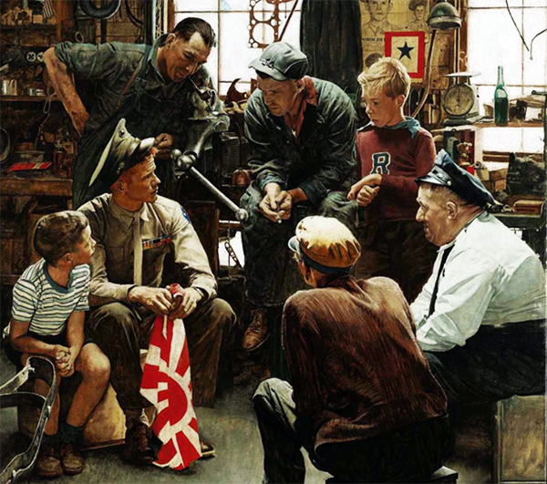 "Understanding Military Terminology: At the Marine Corps Museum: Norman Rockwell's ""The War Hero"""
