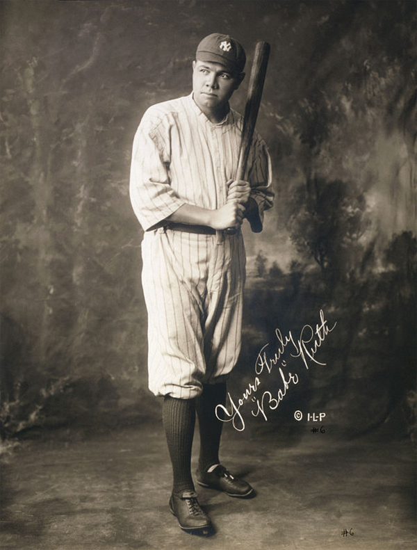 Ruth in 1920, in New York Yankees uniform (United States Library of Congress)