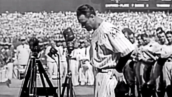 "Famous Quotes 1939: ● ""Today, I consider myself the luckiest man on the face of the earth."" ~ Lou Gehrig, July 4, 1939, to the 62,000 who attended Lou Gehrig Appreciation Day, at Yankee Stadium."