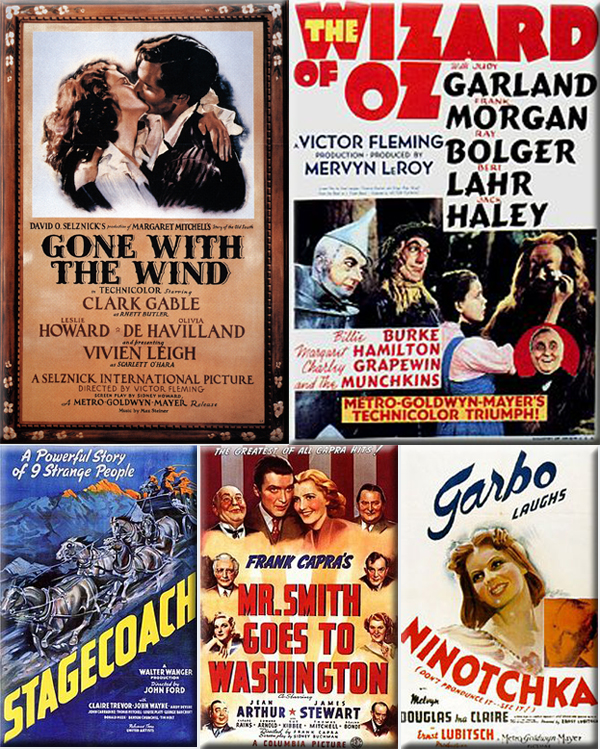 Most Popular Movies: 1939: Gone with the Wind