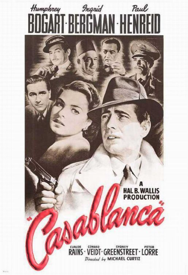 Most Popular Movies: 1942: Casablanca
