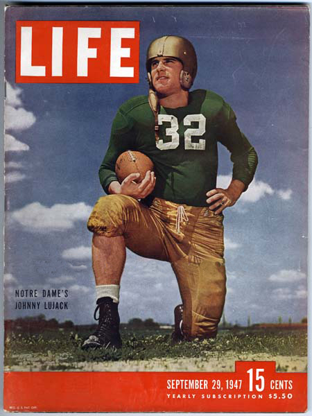 Johnny Lujack earned consensus All-American honors as a junior and senior in 1946 and 1947