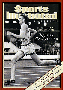 1954 Roger Bannister breaks the four-minute mile (Sports Illustrated / Achievement.org)