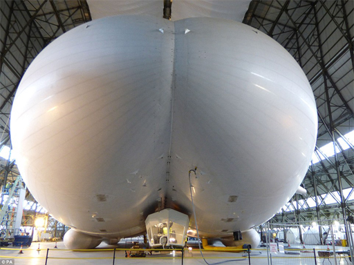 "Airlander 10, World's Longest Aircraft, Nicknamed The ""Flying Bum"""