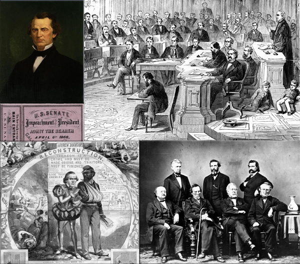 President Andrew Johnson impeached on February 24, 1868