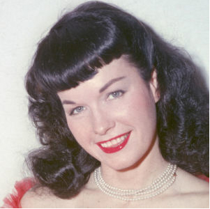 Pinup queen Bettie Page