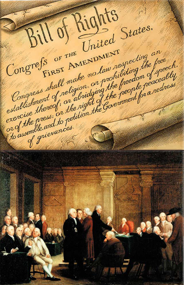Bill of Rights passes Congress on September 25, 1789