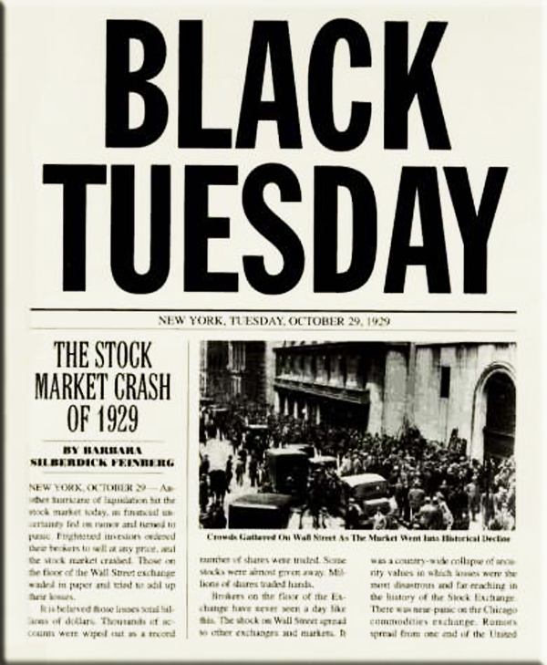 Image result for black tuesday 1929
