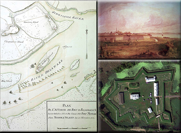 British fleet suffers defeat at Fort Mifflin, Pennsylvania on October 23, 1777