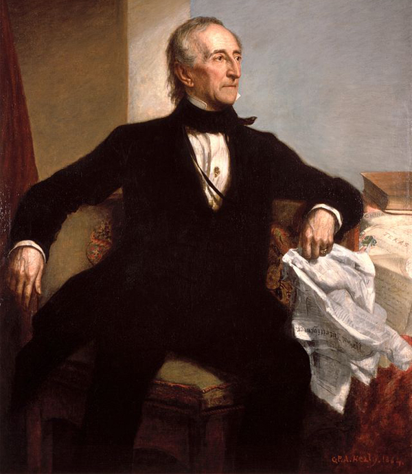 Congress overrides presidential veto for first time on March 3, 1845