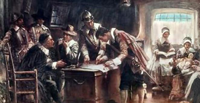 First colonial constitution on January 14, 1639