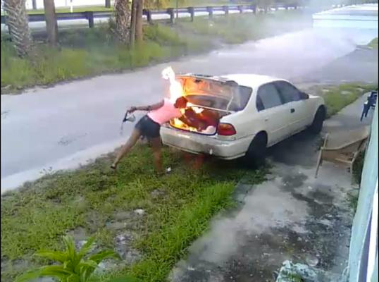 Florida woman allegedly torched car she thought was ex-boyfriend's