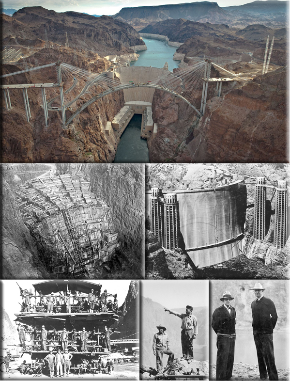 Hoover Dam begins transmitting electricity to Los Angeles on October 9, 1936