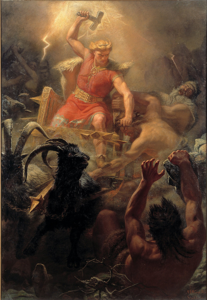 How Hot Is Lightning? Thor's Battle Against the Jötnar (1872) by Mårten Eskil Winge