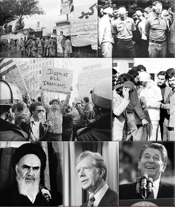 Iranians storm U.S. embassy on November 4, 1979
