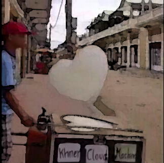 "Machine in Cambodia manufactures heart-shaped ""clouds"""