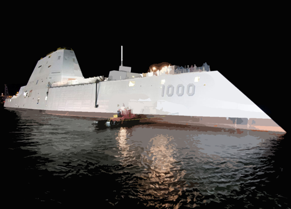 USS Zumwalt (DDG 1000) will be the lead ship of the Navy's newest destroyer class, designed for littoral operations and land attack.