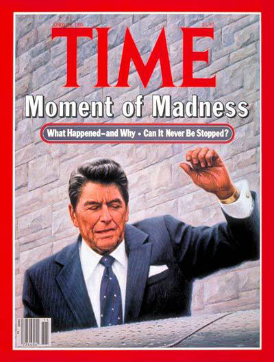 President Ronald Reagan shot on March 30, 1981