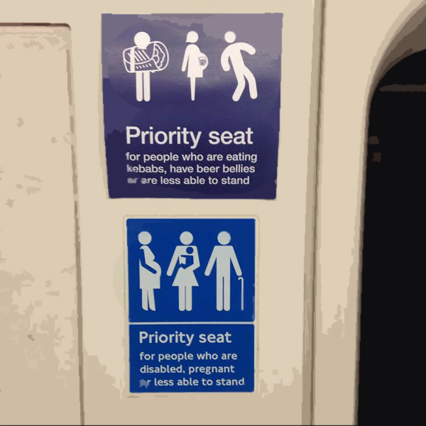 Someone's created new signs for Night Tube etiquette