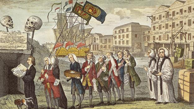 Stamp Act imposed on American colonies on March 22, 1765