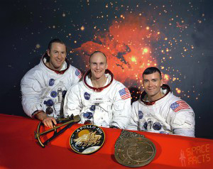 The original Apollo 13 crew: Lovell, Mattingly and Haise
