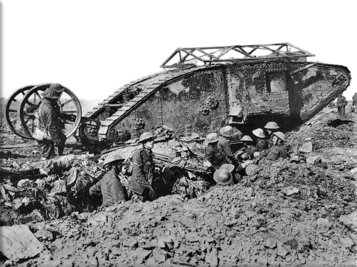 Tanks introduced into warfare at the Somme on September 15, 1916