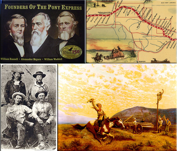 First Transcontinental Telegraph line across the United States is completed, spelling the end for the 18-month-old Pony Express