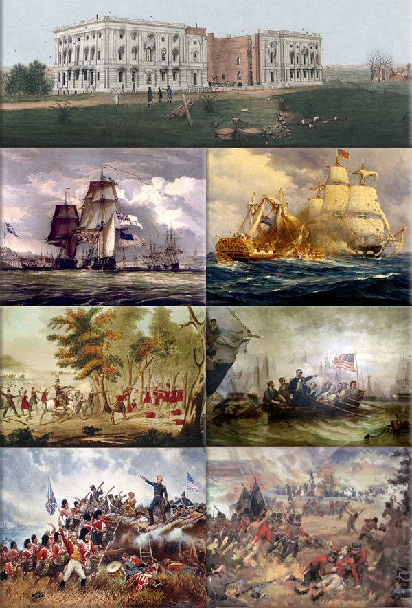 War of 1812 collage