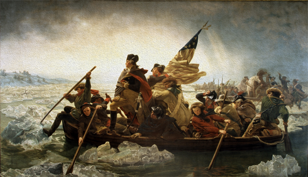 Bizarre News (we couldn't make up stuff this good – real news story) - Washington Crossing the Delaware