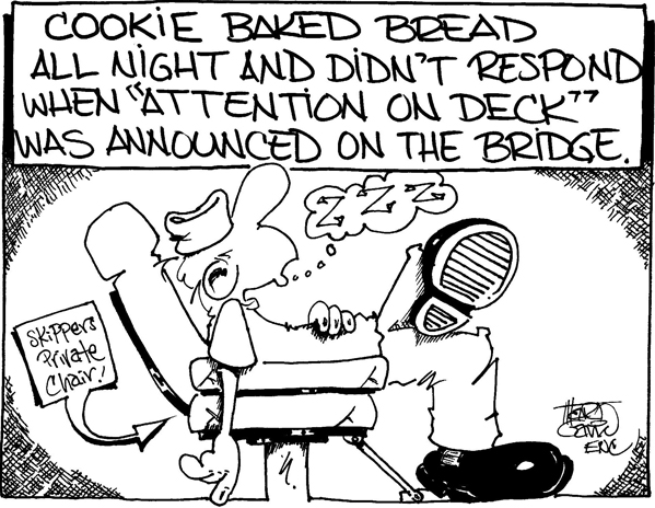 "Cookie Baked Bread - ""Attention on Deck""! ""© CEASAR CHOPPY"" by Marty Gavin"