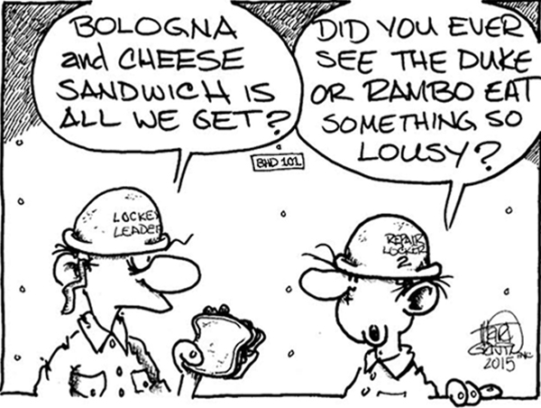 "Bologna and Cheese Sandwich? ""© CEASAR CHOPPY"" by Marty Gavin"