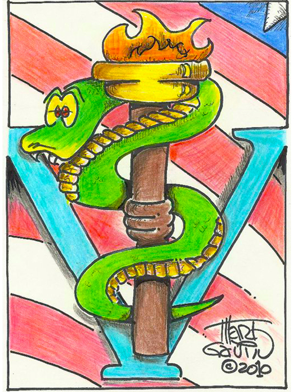 "Snake, Flame and Flag ""© CEASAR CHOPPY"" by Marty Gavin"