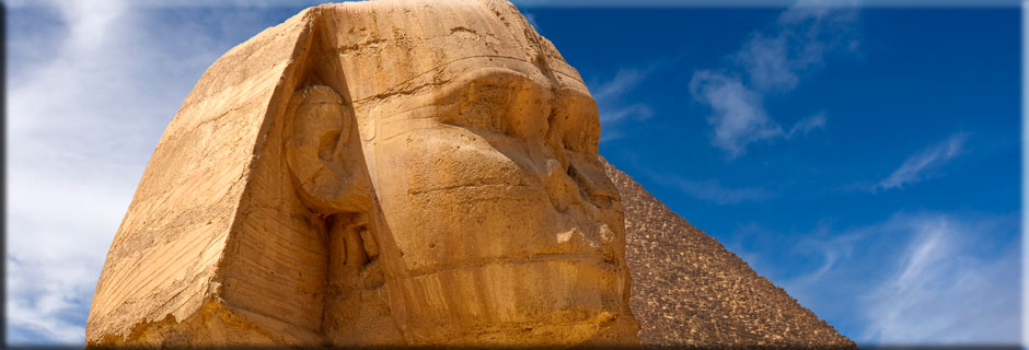 Middle East - Great Sphinx of Giza - Pyramid of Khafre, Egypt