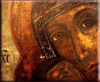 Russia - Mother of God - Virgin Mary and Child Jesus Christ Antique Russian Orthodox Icon - Ladder of Divine Ascent - Tsar Peter I in Red Square